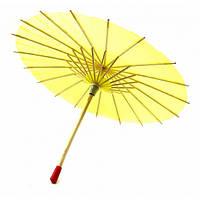 Зонт бамбук с бумагой желтый (d-30 см h-23 см) ( 32748A)