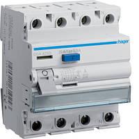 Устройство защитного отключения Hager (ПЗВ) 4P 25A 500mA A (CGA425D)
