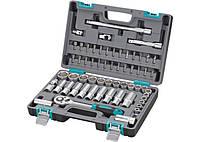 Набор инструментов Stels 1/2, CrV, пластиковый кейс 60 предметов