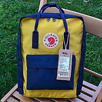 Рюкзак  Fjallraven Kanken, желтого цвета. Стильный городской рюкзак. Реплика. ТОП КАЧЕСТВО!!!, фото 1