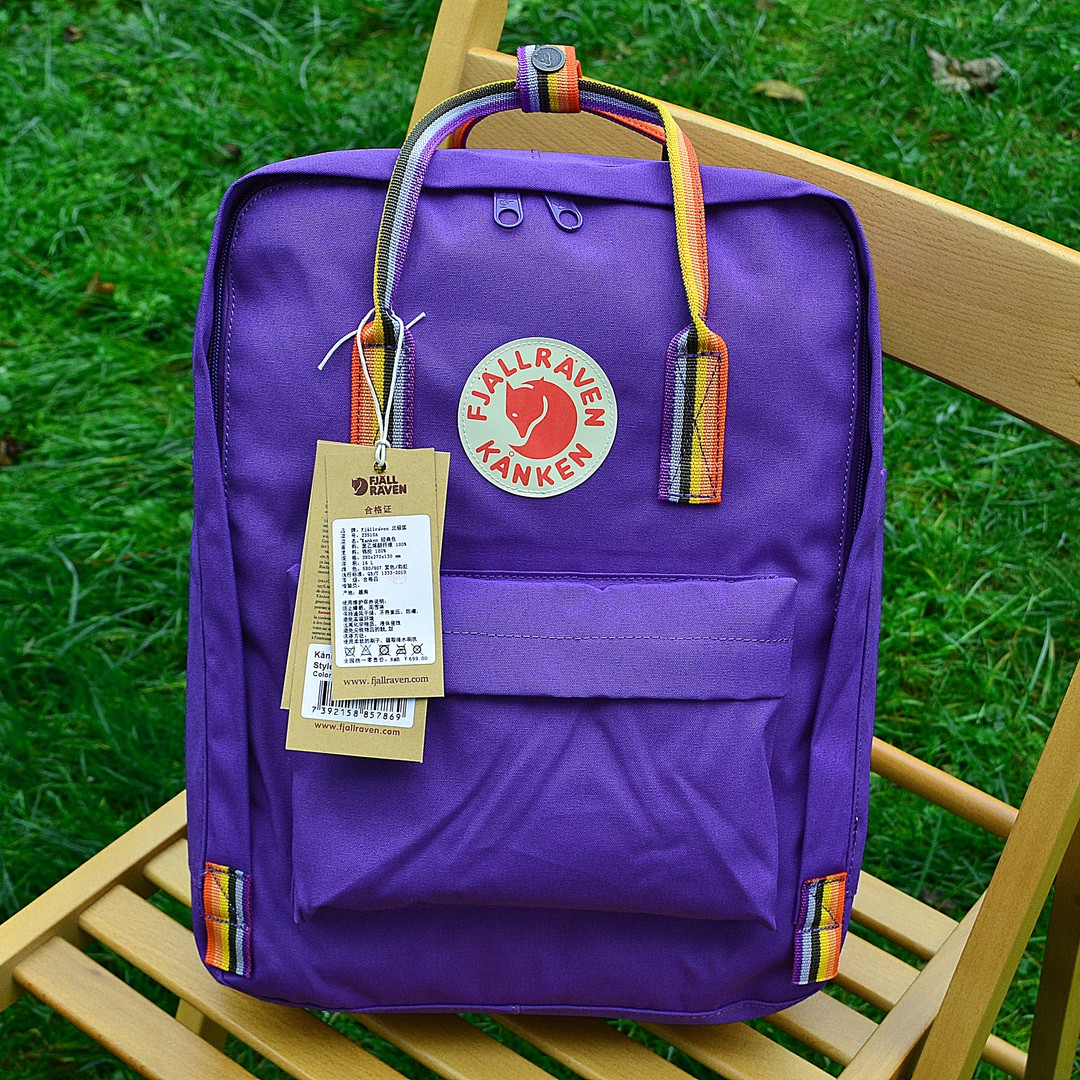 Рюкзак  Fjallraven  Kanken, фиолетового цвета. Стильный городской рюкзак. Реплика. ТОП КАЧЕСТВО!!!