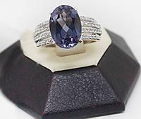Кольцо серебряное с александритом