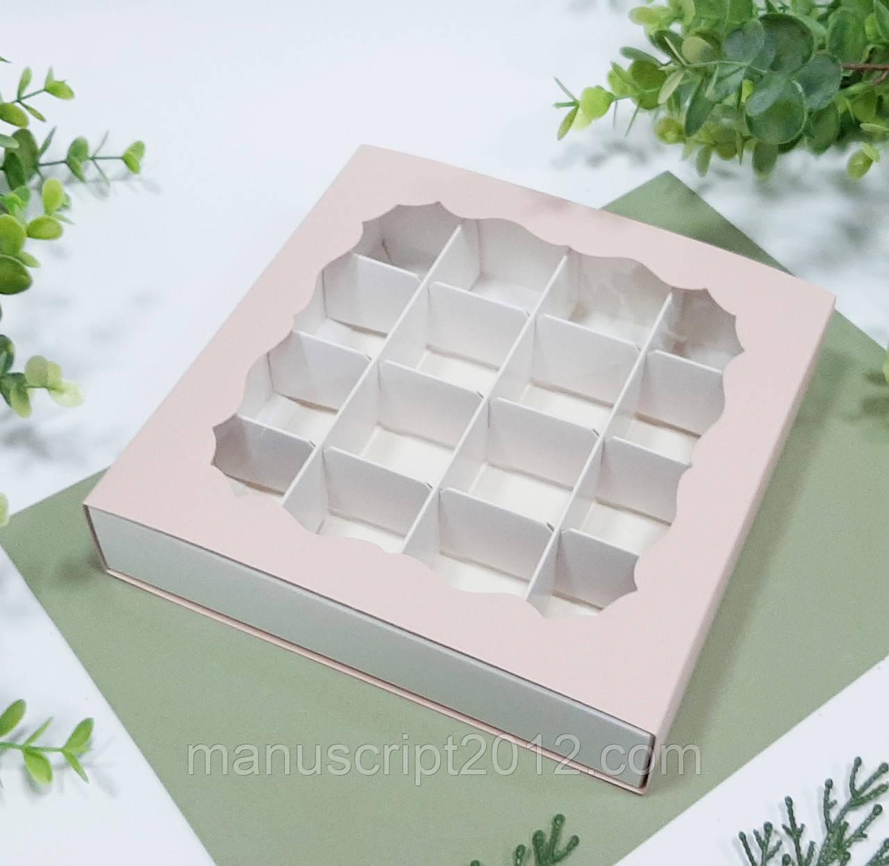 Коробка куартонна для цукерок з вікном