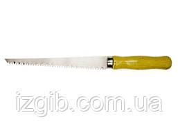 Ножовка по гипсокартону Sparta 180 мм деревянная рукоятка