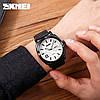 Чоловічі годинники Skmei 1466 кварцові сталеві чорні, фото 5