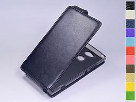 Откидной чехол из натуральной кожи для Sony Xperia XA2