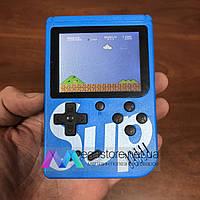 Портативная игровая консоль ретро приставка с джойстиком Sup Game box 400 игр 2play dendy денди синяя