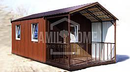 """Мобильный дачный домик """"РЕЛАКС 1-23"""" 22,8м2., на основе цельно-сварного металлического каркаса."""