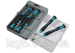 Набор отверток для точной механики Gross CrMo двухкомпонентные рукоятки 6 шт