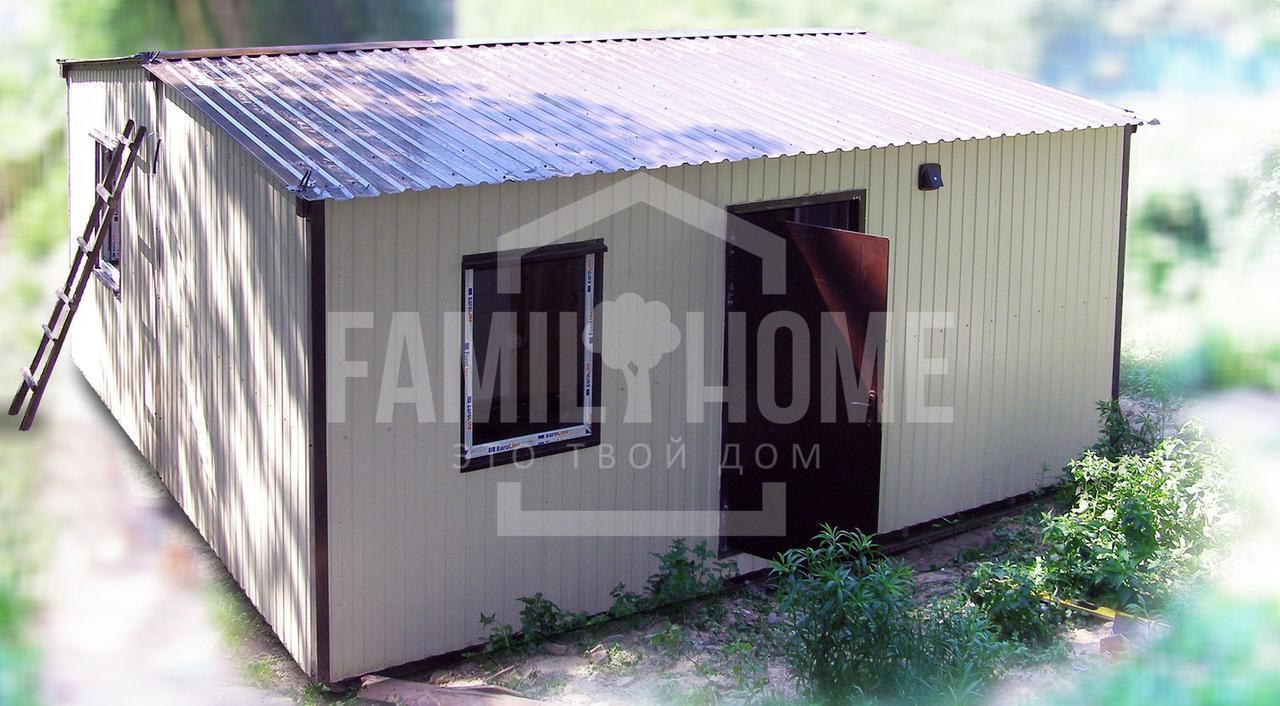 """Мобильный модульный дом """"ГАРМОНИЯ 2-36"""" 36м2., на основе цельно-сварного металлического каркаса."""