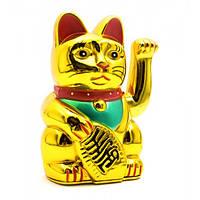 Кошка Манэки-нэко машущая лапой (12,5х7,5х6,5 см)(батарейки в комплект не входят) ( 23976)