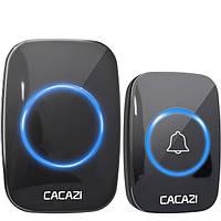 Беспроводной дверной звонок на входную дверь Cacazi W280, 60 мелодий, регулировка громкости, до 280 м
