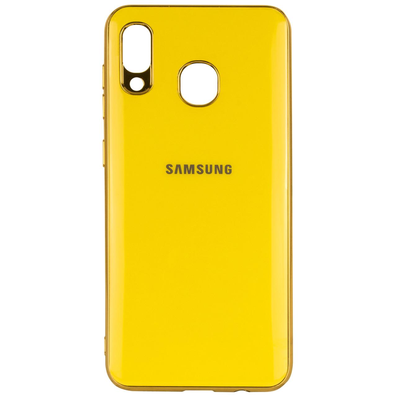 TPU чехол GLOSSY LOGO для Samsung Galaxy A20 / A30