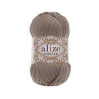 Пряжа Ализе Форевер Alize Forever, цвет №167 темно бежевый
