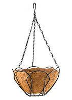 Подвесное кашпо Palisad 30 см, с кокосовой корзиной