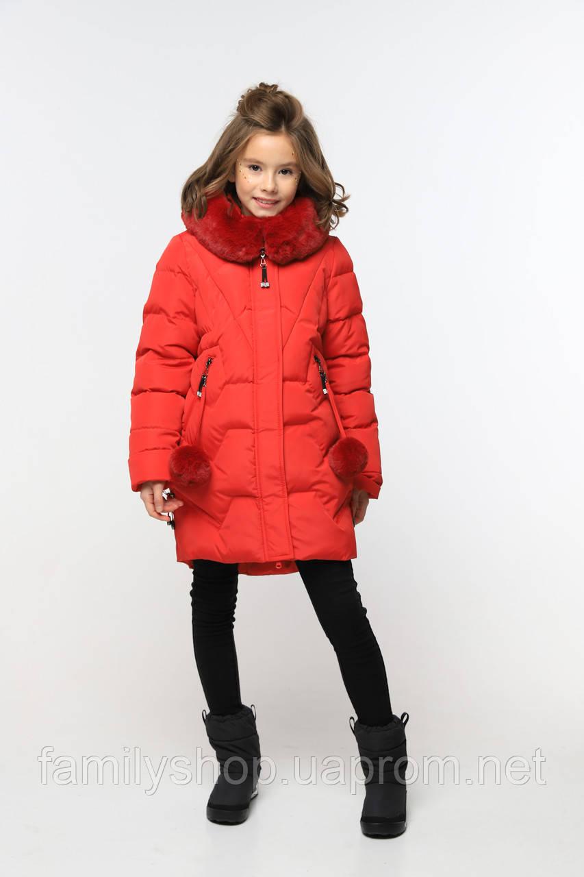 Теплое зимнее пальто с капюшоном на девочку Шелли нью вери (Nui Very)