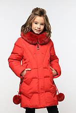 Теплое зимнее пальто с капюшоном на девочку Шелли нью вери (Nui Very), фото 2