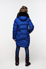 Теплое зимнее пальто с капюшоном на девочку Шелли нью вери (Nui Very), фото 3