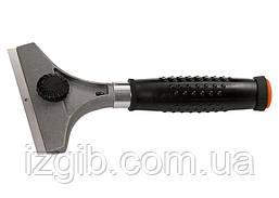 Скребок Matrix 100 мм фиксированное лезвие металлическая обрезиненная ручка