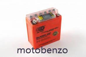 Акумулятор 12V 5А гелевий високий 119x60x128, помаранчевий, з індикатором заряду, вольтметром OUTDO