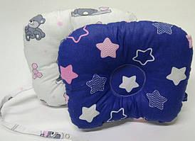 Двусторонняя хлопковая подушка для новорожденных