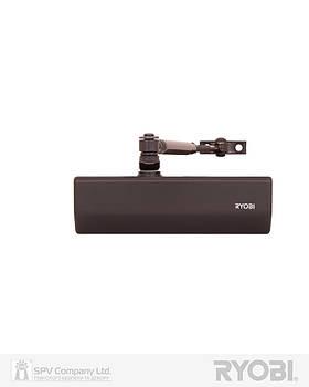 Доводчик накладного типа RYOBI *1500 D-1554 DARK_BRONZE STD_ARM EN_2/3/4 до_80кг 1100мм FIRE