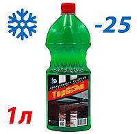 Жидкость стеклоомывателя зимняя -25 1л TOP Gear (аромат Дыня)