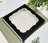 Коробка для подарков черная 160х160х35 мм