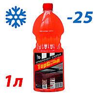 Жидкость стеклоомывателя зимняя -25 1л TOP Gear (аромат Bubble Gum)