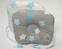 Анатомическая двусторонняя подушка для новорожденных 22 х 26 см