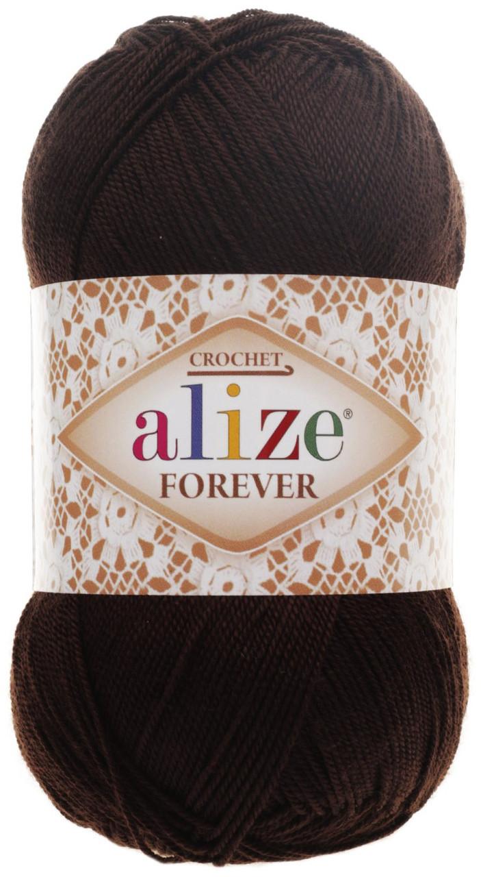 Пряжа Ализе Форевер Alize Forever, цвет №26 темно коричневый