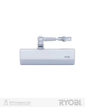Доводчик дверной накладного типа RYOBI *1500 D-1554 SILVER STD_ARM EN_2/3/4 до_80кг 1100мм FIRE