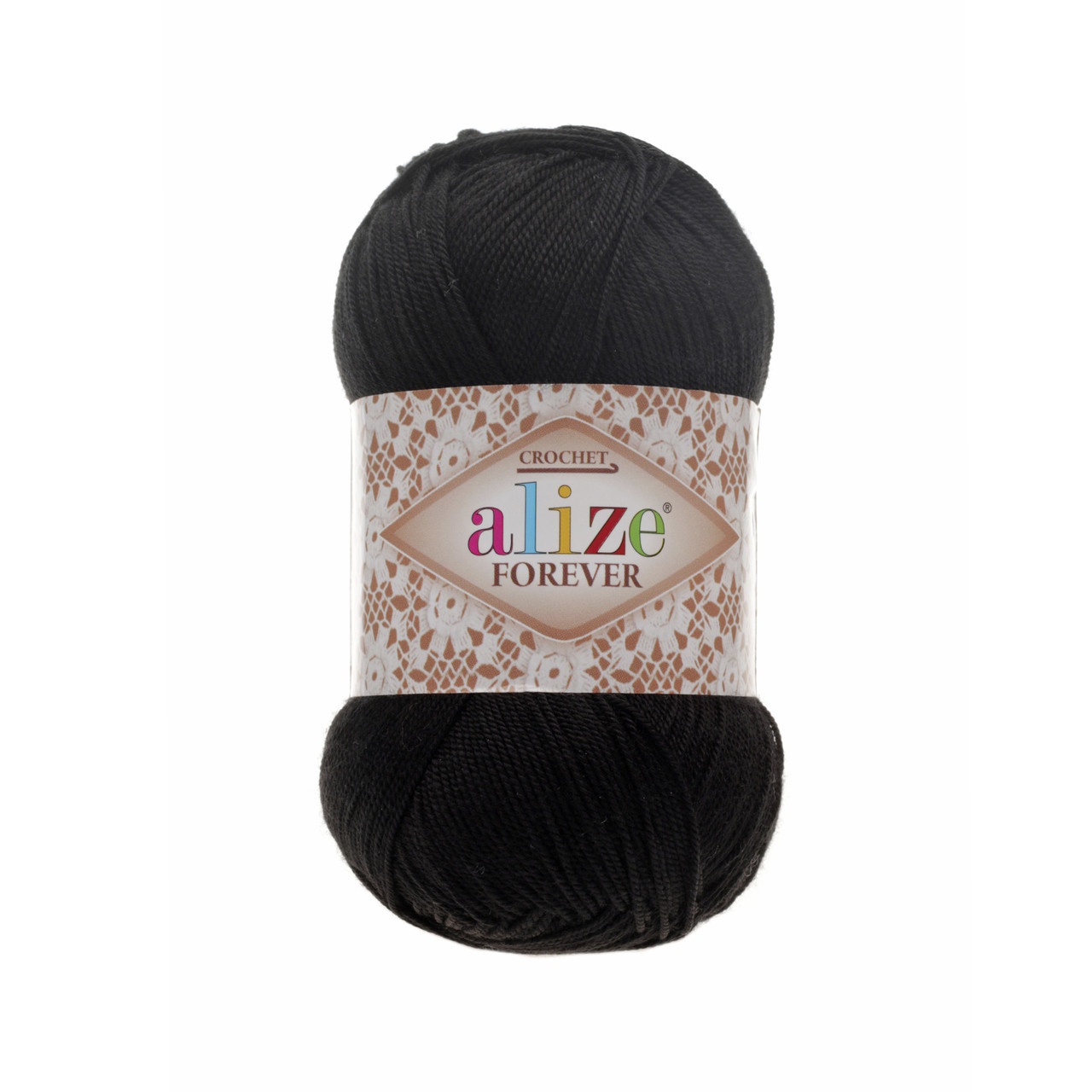 Пряжа Ализе Форевер Alize Forever, цвет №60 черный