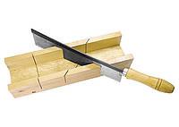 Стусло Sparta 300 х 60 мм, деревянное+пила 250 мм
