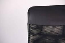 Кресло Ultra Хром сиденье C-1/спинка Сетка черная, вставка Скаден черный, фото 3
