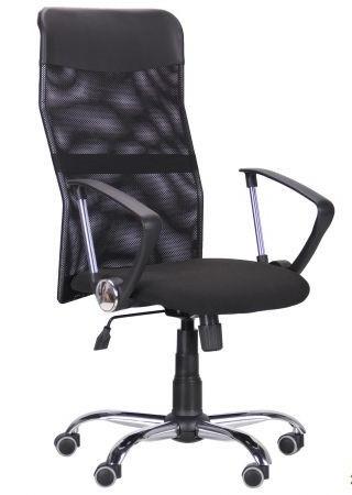 Кресло Ultra Хром сиденье C-1/спинка Сетка черная, вставка Скаден черный
