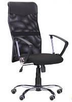 Кресло Ultra Хром сиденье C-1/спинка Сетка черная, вставка Скаден черный, фото 1