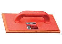 Терка пластмассовая Matrix 280х140мм резиновое покрытие