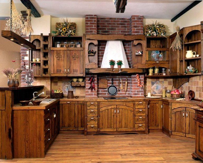 Отдельные фасады для кухни из дерева по индивидуальному дизайн-проекту