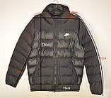Мужская куртка Nike черная еврозима., фото 3