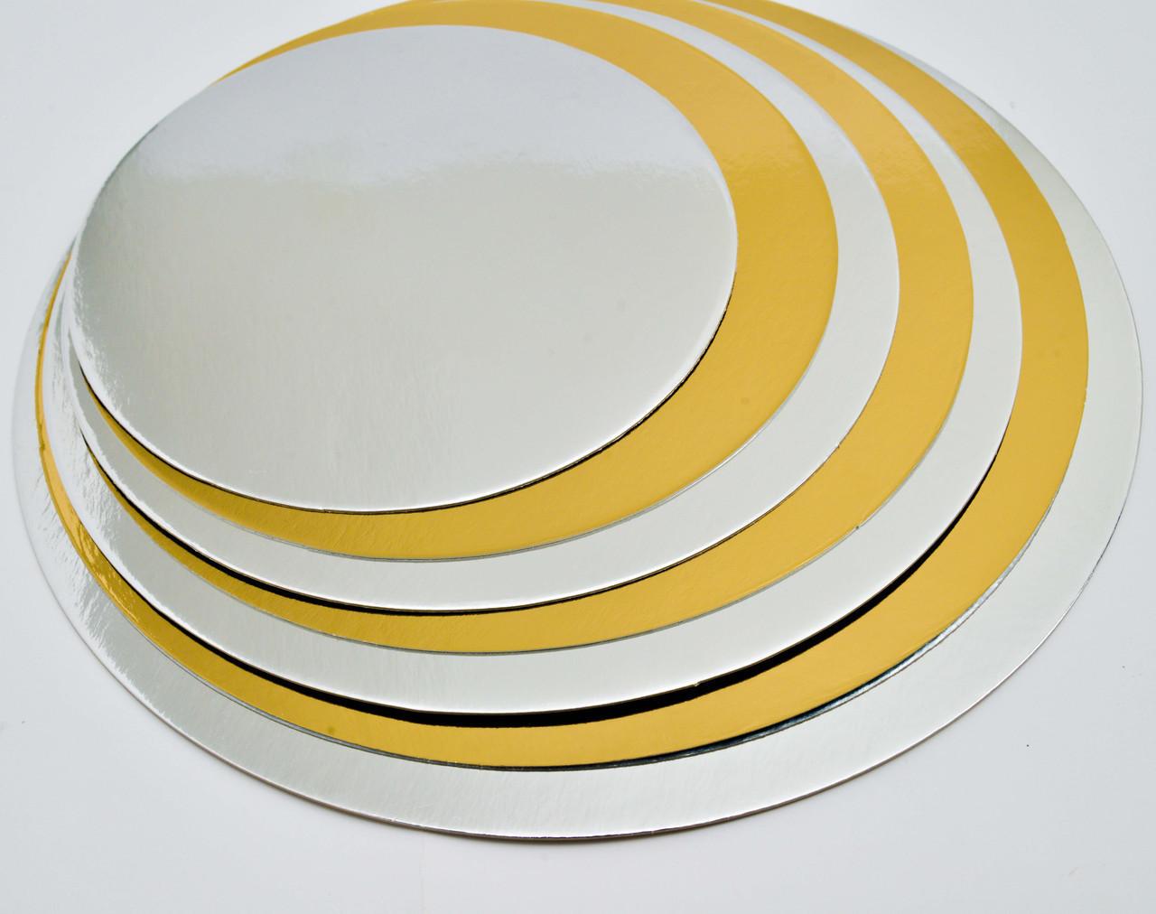 Подложка под торты круг Ø-335 мм толщина 0.8 мм (100 шт упаковка)