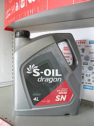Моторное масло S-oil dragon sn 5w40