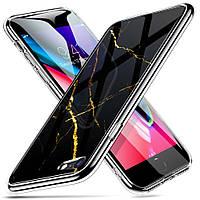 Чехол ESR для iPhone SE 2020/8/7 Mimic Marble Tempered Glass, Black Gold (4894240064856), фото 1