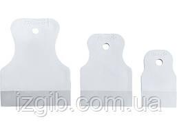 Набор шпателей Sparta 40-60-80мм белая резина 3 шт.