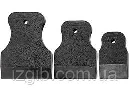Набор шпателей Sparta 40-60-80мм черная резина 3 шт.