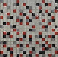 Мозаика Микс  белый-красный-черный-платина