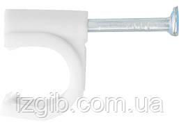Скобы электроустановочные СибрТех 8 мм круглый профиль 50 шт