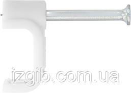 Скобы электроустановочные СибрТех 6 мм прямоугольный профиль 50 шт