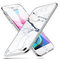 Чехол ESR для iPhone SE 2020/8/7 Mimic Marble Tempered Glass, White Sierra (4894240064863), фото 1