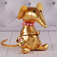 """Мягкая игрушка мышка """"Миссис Кристи"""", игрушка подарок на Новый Год, """"Золотая коллекция"""" символ 2020"""
